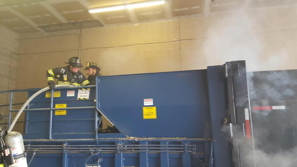 Trash Compactor Fire in Bellmawr