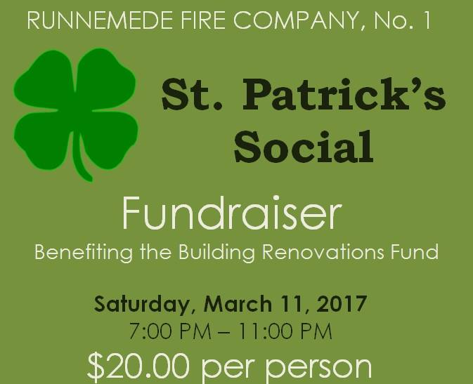 CANCELLED – St. Patrick's Social